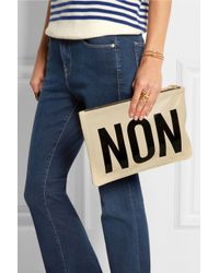 Clare V. Natural Oui Non Leather Clutch