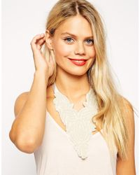 ASOS - Natural Seed Bead Bib Necklace - Lyst