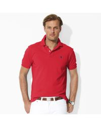 Ralph Lauren | Red Classic-fit Mesh Polo Shirt for Men | Lyst