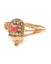 Daniela Villegas - Metallic 'khepri' Beetle Diamond Ring - Lyst