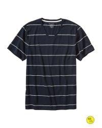 Banana Republic - Blue Factory Stripe Vee for Men - Lyst