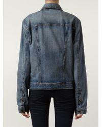 Joe's Jeans - Blue Oversized Denim Jacket - Lyst