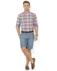 Polo Ralph Lauren | Blue Straight-fit Kingsley Chambray Shorts for Men | Lyst