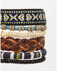 ASOS - Multicolor Woven Bracelet Pack for Men - Lyst