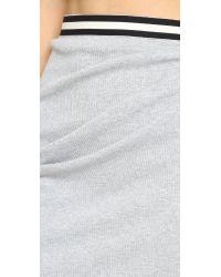 Bec & Bridge Gray Fundamental Asymmetrical Skirt