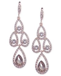 Givenchy | Pink Rose Gold-tone Medium Pear-shaped Chandelier Earrings | Lyst