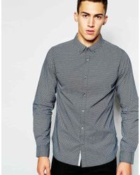 French Connection | Gray Shirt With Bubble Print for Men | Lyst