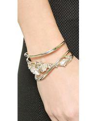 Alexis Bittar Metallic Orbit Cuff Bracelet - Gold