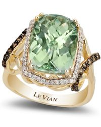 Le Vian - Green Amethyst (5-5/8 Ct. T.w.) And Diamond (3/8 Ct. T.w.) Ring In 14k Gold - Lyst