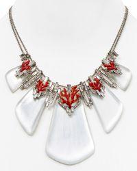"Alexis Bittar - Metallic Lucite Studded Articulating Bib Necklace, 16"" - Lyst"