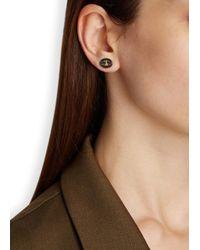 Vivienne Westwood | Metallic Embossed Orb Gunmetal Stud Earrings | Lyst
