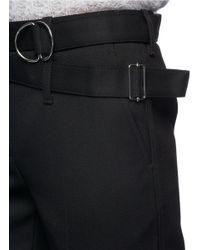 3.1 Phillip Lim - Black Utility Strap Cropped Wool Pants - Lyst
