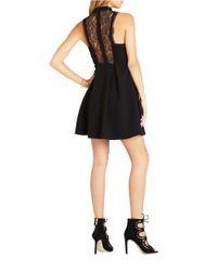 BCBGeneration - Black Lace Front Dress - Lyst