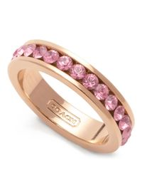 COACH | Pink Pave Band Ring | Lyst