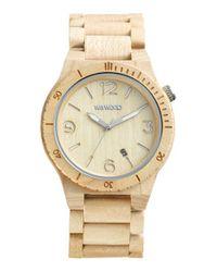 WeWood - Natural 'alpha' Wood Bracelet Watch - Lyst