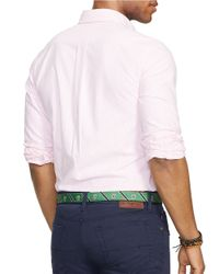 Polo Ralph Lauren | Pink Muted Stripe Oxford Sportshirt for Men | Lyst