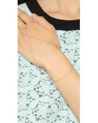 Gorjana Pink Paige Ring To Wrist Bracelet - Rose Gold