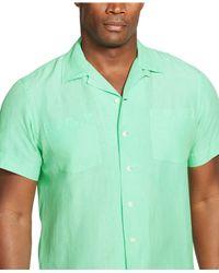 Polo Ralph Lauren | Green Big And Tall Linen-silk Camp Shirt for Men | Lyst