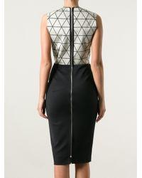 Victoria Beckham - Black Triangle Panel Dress - Lyst