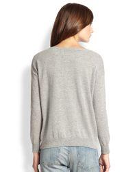 Joie - Gray Eloisa Wool Cashmere Owl Sweater - Lyst