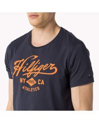 Tommy Hilfiger | Blue Organic Cotton T-shirt for Men | Lyst