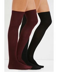 Forever 21 | Black Over-the-knee Sock Set | Lyst