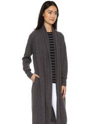 DKNY | Gray Open Front Cardigan Coat | Lyst