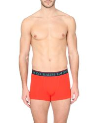 Ralph Lauren - Orange Branded Waistband Jersey Trunks - For Men for Men - Lyst