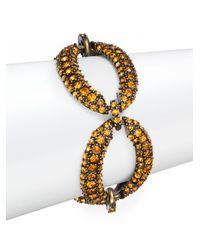 Saks Fifth Avenue - Pavã© Oval Link Bracelet/orange - Lyst