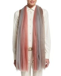 Loro Piana - Pink Iride Unique Degrade Stole - Lyst
