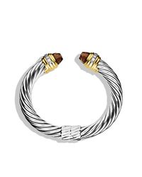 David Yurman | Metallic Cable Classics Bracelet With 18k Gold, 10mm | Lyst