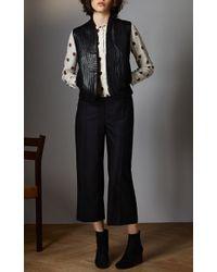 Vilshenko - Black Alexa Wool Tailoring Cropped Wide Leg Pant - Lyst