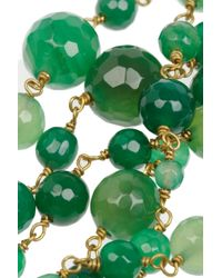 Rosantica Green Pegaso Golddipped Agate Necklace