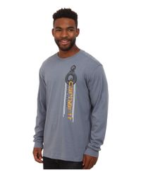 Carhartt - Gray Maddock Graphic Made To Last Pulley Long Sleeve Tee for Men - Lyst