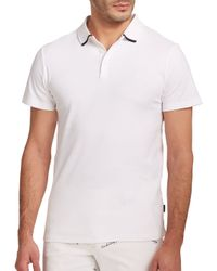 AG Green Label | White Fade Polo for Men | Lyst