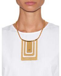 Diane von Furstenberg - Metallic Geometric Gold-Plated Necklace - Lyst