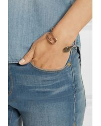 Iam By Ileana Makri | Pink Oxidized Silver And Rose Gold-Plated Safety Pin Cuff | Lyst