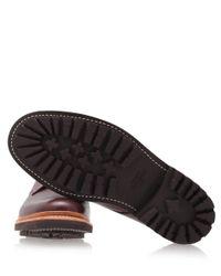 Foot The Coacher Purple Burgundy Curt Commando Leather Derby Shoes for men