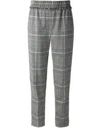 3.1 Phillip Lim Blue Plaid Trousers