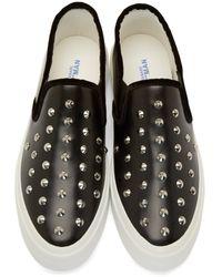 Junya Watanabe Black Studded Slip_on Sneakers for men