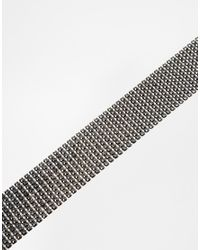 ASOS - Metallic Chainmail Choker Necklace - Lyst
