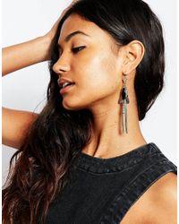 ASOS Metallic Western Stone Drop Earrings