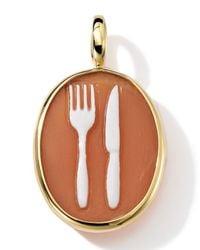 Ippolita - Metallic 18k Gold Oval Fork & Knife Cameo Charm - Lyst