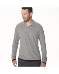 James Perse | Gray Doubled Polo for Men | Lyst