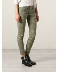 Current/Elliott Green Camouflage Jeans