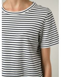 Theory   White Horizontal Stripe T-Shirt   Lyst