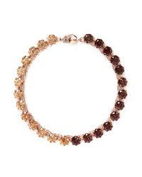 Eddie Borgo | Multicolor Two Tone Circle Estate Cubic Zirconia Necklace | Lyst