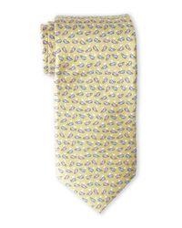 Pierre Cardin - Metallic Whale Silk Tie for Men - Lyst