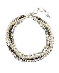 Givenchy - Metallic Multi Chain Necklace - Lyst