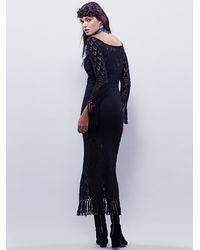 Free People | Black Spell & The Gypsy Collective Womens Leila Off The Shoulder Maxi Dress | Lyst